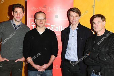 John Krasinski, Matt Damon, Hugo Lindgren and Gus Van Sant