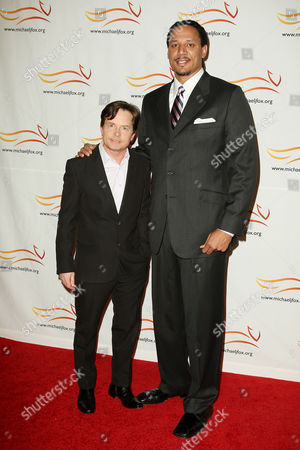 Stock Picture of Michael J Fox and Brian Grant