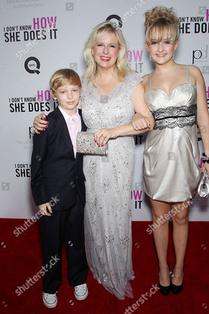 Allison Pearson with son Thomas and daughter Eveline