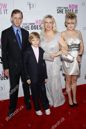 Allison Pearson with husband Anthony Lane, son Thomas and daughter Eveline