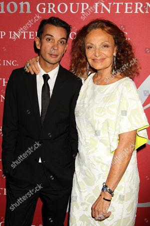 Michael Herz and Diane von Furstenberg