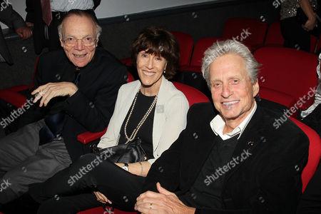 Nick Pileggi, Nora Ephron and Michael Douglas