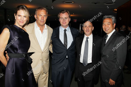 Lynn Harris, Kevin Costner, Christopher Nolan, Jeffrey Robinov and Kevin Tsujihara