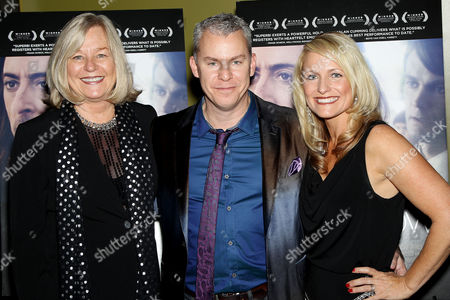 Stock Photo of Maxine Makover, Travis Fine and Kristine Hostetter Fine