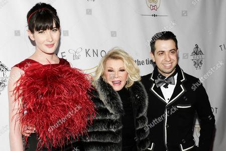 Stock Image of Meghan Giffin, Joan Rivers and Viktor Luna