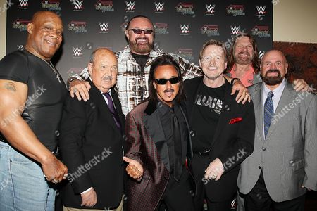 Stock Photo of Tony Atlas, Mean Gene Okerlund, Hillbilly Jim, Jimmy Hart, Roddy Pip