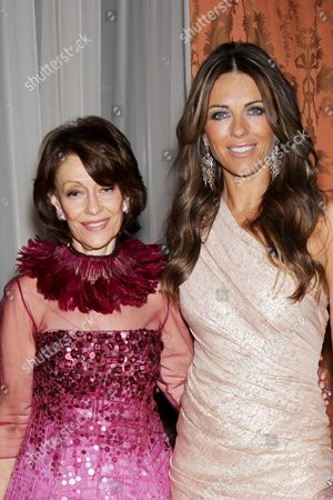 Stock Photo of Evelyn Lauder and Elizabeth Hurley