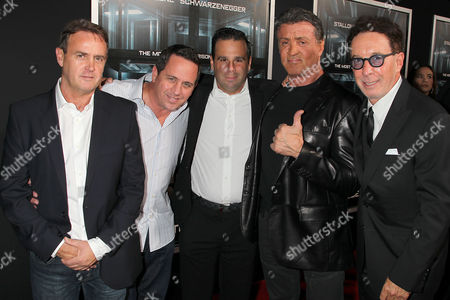 Stock Photo of Kevin King Templeton, Brandon Grimes, Randall Emmett, Sylvester Stallone and Mark Canton