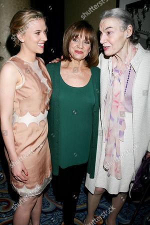 Scarlett Johansson, Valerie Harper and Marian Seldes