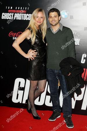 Stock Picture of Jerry Ferrara with girfriend Alexandra Blodgett