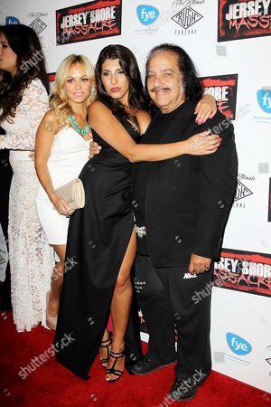 Christina Scaglione, Nicole Rutigliano and Ron Jeremy