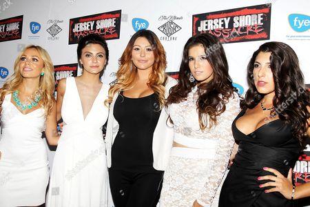 Christina Scaglione, Danielle Dallacco, Jenni J-Woww Farley, Angelica Boccella and Nicole Rutigliano