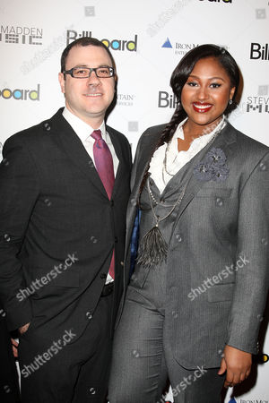Bill Werde (Billboard Magazine Editor) and Jazmine Sullivan
