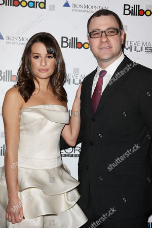 Lea Michele and Bill Werde (Billboard Magazine Editor)