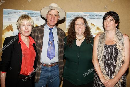 Stock Image of Cindy Meehl (Director), Buck Brannaman, Julie Goldman and Alice