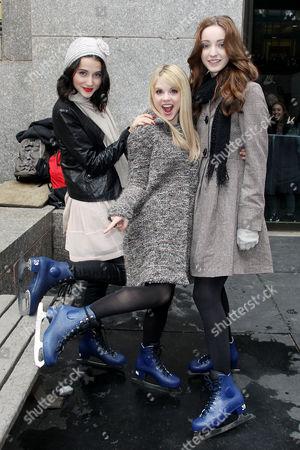 Julia Goldani Telles, Bailey Buntain and Emma Dumont