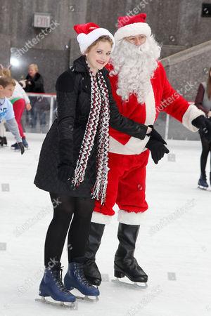 Kaitlyn Jenkins and Santa Claus