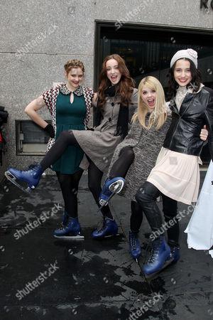 Kaitlyn Jenkins, Emma Dumont, Bailey Buntain and Julia Goldani Telles