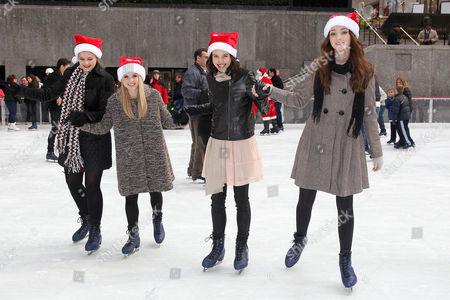 Kaitlyn Jenkins, Bailey Buntain, Julia Goldani Telles and Emma Dumont