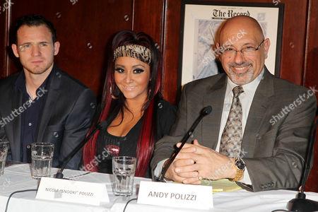 Patrick (PAJO) Hyland, Nicole Snooki Polizzi and Andy Polizzi