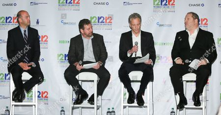David Saltzman, Jim Dolan, John Sykes and Harvey Weinstein