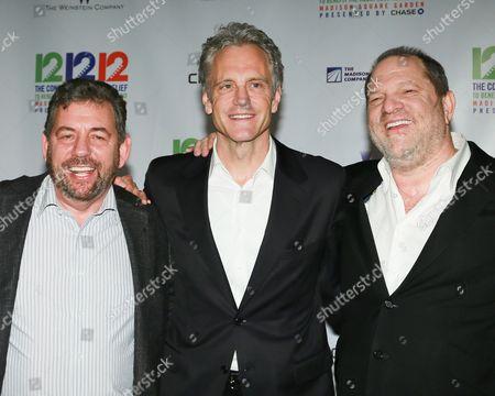 Jim Dolan, John Sykes and Harvey Weinstein
