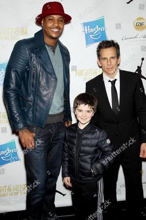 Carmelo Anthony, Quinn Stiller, Ben Stiller
