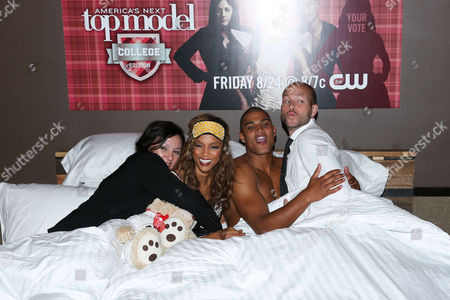 Kelly Cutrone, Tyra Banks, Rob Evans and Johnny Wujek