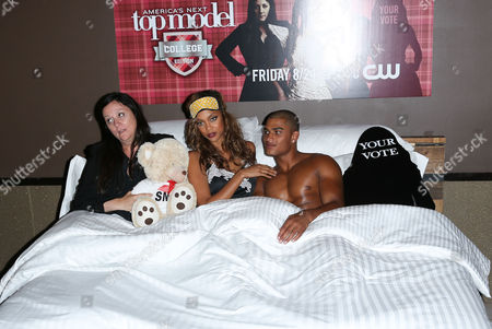 Kelly Cutrone, Tyra Banks, Rob Evans