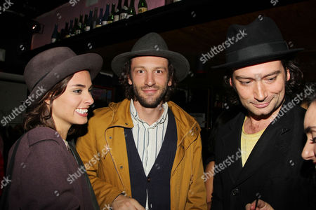 Stock Picture of Sophie Auster, Zac Sebastian and Constantine Maroulis
