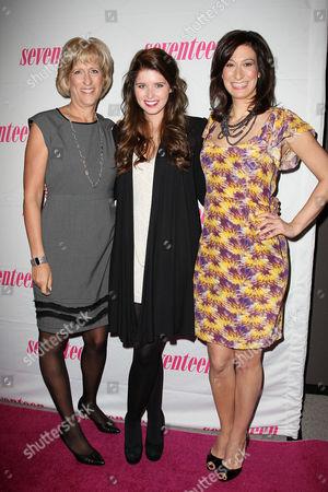 Jayne Jamison (Publisher, Seventeen), Katherine Schwarzenegger and Ann Shoket (Editor-in-Chief, Seventeen)