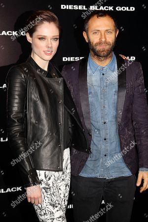 Stock Picture of Coco Rocha and Stefano Russo
