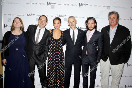 Rosie Alison (Producer), Michael Barker (Co-Pres. SPC), Alicia Vikander, James Kent (Director), Kit Harington, Tom Bernard (Co-Pres. SPC)
