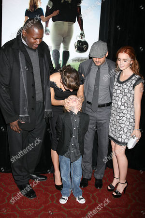 Stock Picture of Quinton Aaron, Sandra Bullock, Jae Head, Tim McGraw and Lily Collins