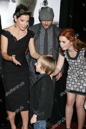 Stock Image of Sandra Bullock, Jae Head, Tim McGraw and Lily Collins
