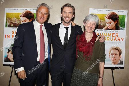 Stock Image of Jeremy Cowdrey (Producer), Dan Stevens (Actor, Producer), Pippa