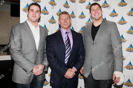 Zac DeOssie, Vince McMahon and David Diehl