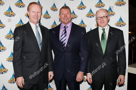 NY Giant owner John Mara, Vince McMahon and Jets Owner Woody Johnson