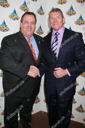 Chris Christie and WWE Chairman and CEO Vince McMahon
