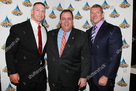 John Cena, Chris Christie and Vince McMahon