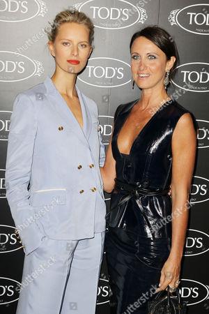 Karolina Kurkova and Alessandra Facchinetti (Tod's Women's Creative Director)