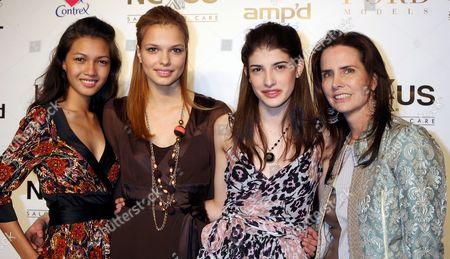 Charo Ronquillo, Katsia Damenkova, Bojana Reiojic and Katie Ford