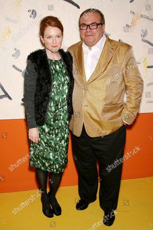 Julianne Moore and Hunt Slonem