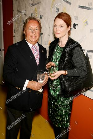 Arnold Scassi and Julianne Moore