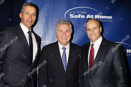 Andy Pettitte, Steve Tyrell and Joe Torre
