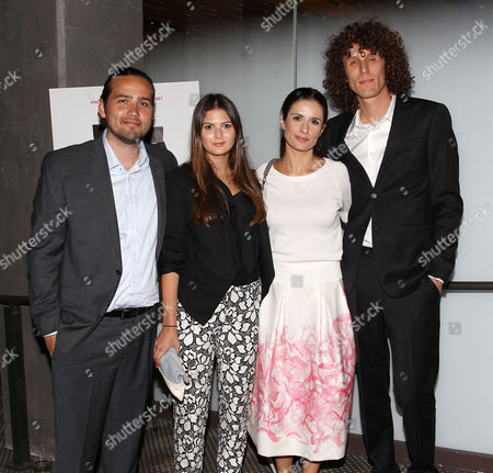 Stock Photo of Michael Ross, Laura Piety, Livia Giuggioli (Producers; The True Cost) and Andrew Morgan (Director; The True Cost)