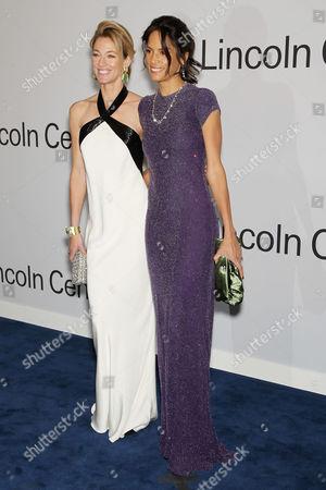 Elaine Irwin Mellencamp and Veronica Webb