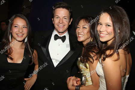 Mark Wahlberg and Amy L Chua with Her Daughters