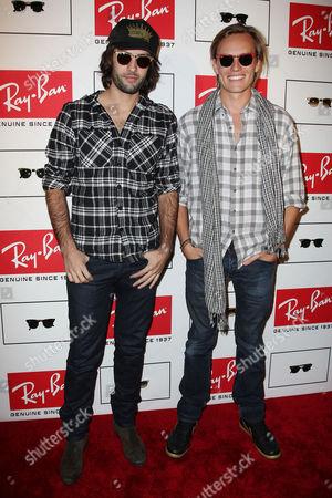 Stock Photo of Jay Lyon and Nicolas Potts of band Tamarama