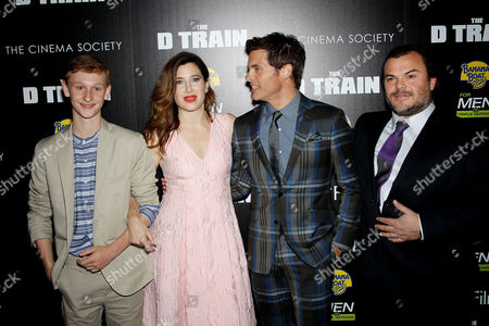 Stock Image of Russell Posner, Kathryn Hahn, James Marsden, Jack Black